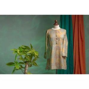 Printed Khaddar Shirt